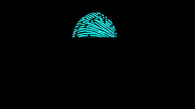 4K digital fingerprint scanning animation video