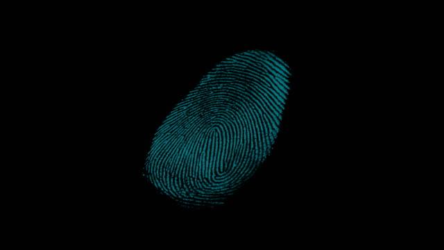 4k digital fingerprint scanning from front camera with digital line - замок средство безопасности стоковые видео и кадры b-roll