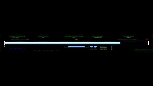 Digital futuristic hud infographic element video