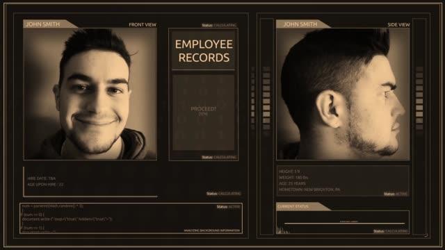 digitala futuristisk modern elegant anställd gränssnitt corner pin vinkel - kriminell bildbanksvideor och videomaterial från bakom kulisserna
