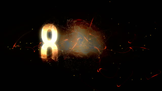 digital generated video of countdown timer - 20 29 lat filmów i materiałów b-roll