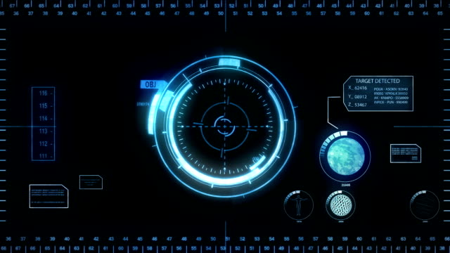 Digital Hud. Blue.