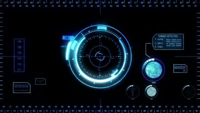 Digital Hud. Blue. video