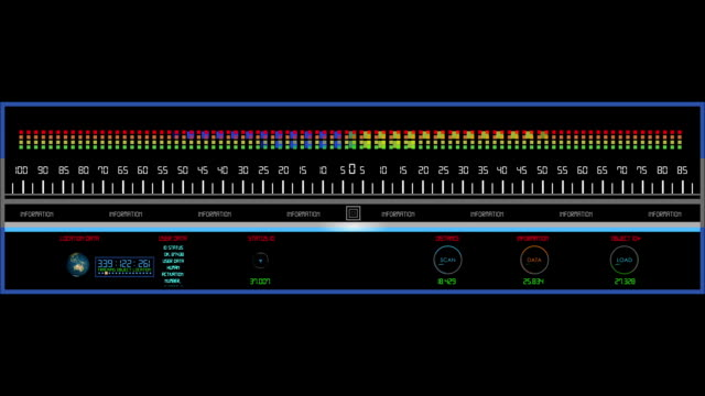 Digital HUD equalizer element video