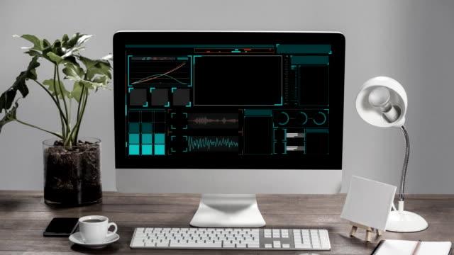 Digital interface on computer monitor