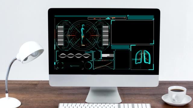 Digital interface on computer screen