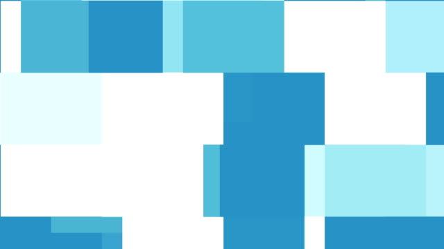 Digital Light Blue Squares Moving Around Background video