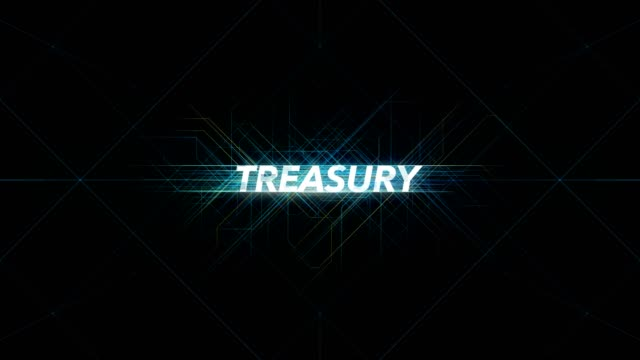 Digital Lines Tech Word - TREASURY Digital Lines Tech Word - TREASURY treasury stock videos & royalty-free footage