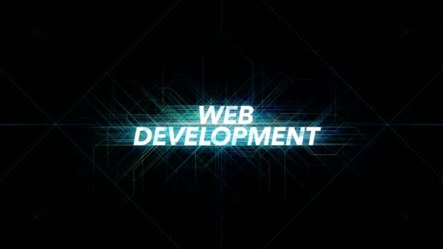 Digital Lines Tech Word - WEB DEVELOPMENT Digital Lines Tech Word - WEB DEVELOPMENT website design stock videos & royalty-free footage