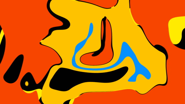 Digital marbling, bright abstract 3D computer generated backdrop, colorful liquid color palette mesh background video