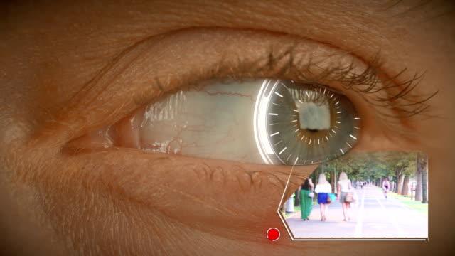 Digital memories - bionic eye with futuristic hud elements video