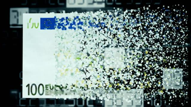 digitales geldtransfer - euros cash stock-videos und b-roll-filmmaterial