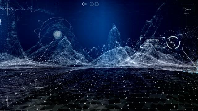 Digital Mountains Animation. Virtual Reality training