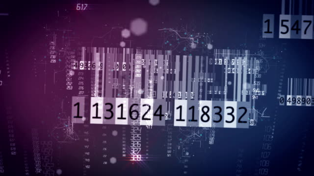 digitales netzwerk barcode - etikett stock-videos und b-roll-filmmaterial