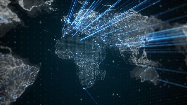 cyfrowe połączenie sieciowe na całym świecie loopable 4k - zwrot filmów i materiałów b-roll