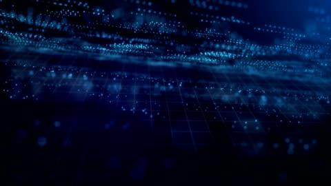 Digital network data grid technology background Digital network data grid technology background dark blue green grid pattern stock videos & royalty-free footage