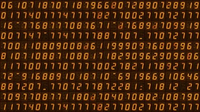 vidéos et rushes de les numéros numériques clignotent au hasard. boucle transparente. 4k - nombre