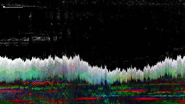 digital pixel noise glitch error video damage - mangianastri video stock e b–roll
