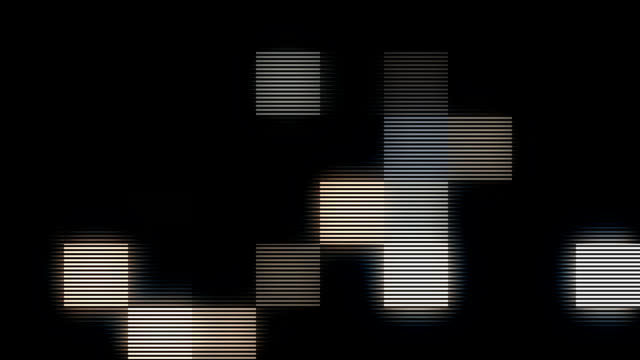 digital pixels v01 CU of random glowing digital pixels with  interlacing. Loopable. Great for screen insert! square composition stock videos & royalty-free footage