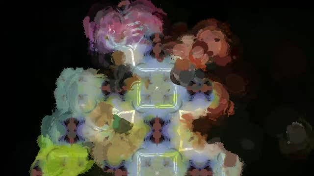 vídeos de stock e filmes b-roll de digital rendering abstract vibrant background - filosofia