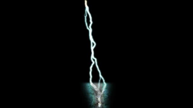 vídeos y material grabado en eventos de stock de iluminación de renderización digital huelga de carga eléctrica vídeo - descarga eléctrica