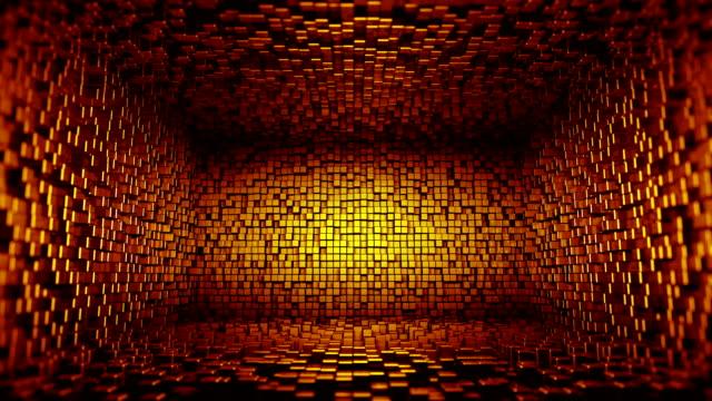 デジタルルーム(ループ) - 立方体点の映像素材/bロール