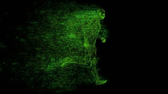 digital running wire inramad modell med bakljus - abstract silhouette art bildbanksvideor och videomaterial från bakom kulisserna