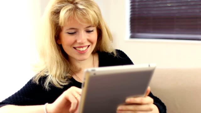 Digital tablet girl. video