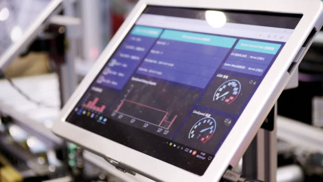 digital tablet in industrial 4.0 digital tablet in industrial 4.0 computer aided manufacturing stock videos & royalty-free footage