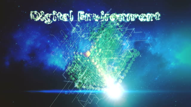 Digital Technology Background, Internet of Things, Big Data, Cryptocurrency