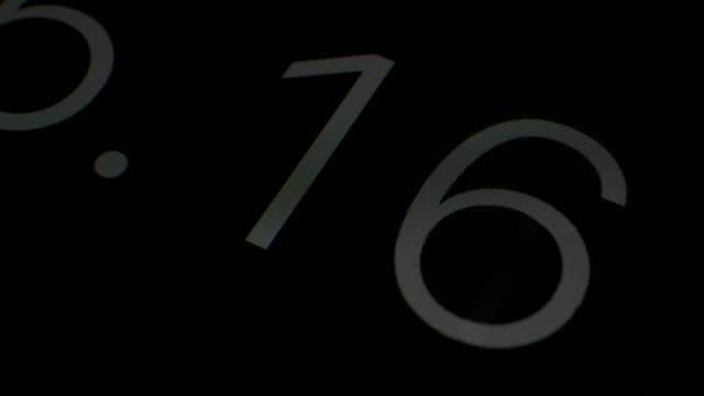 Digital Timer Counting Random Number Clock Timing Black Background