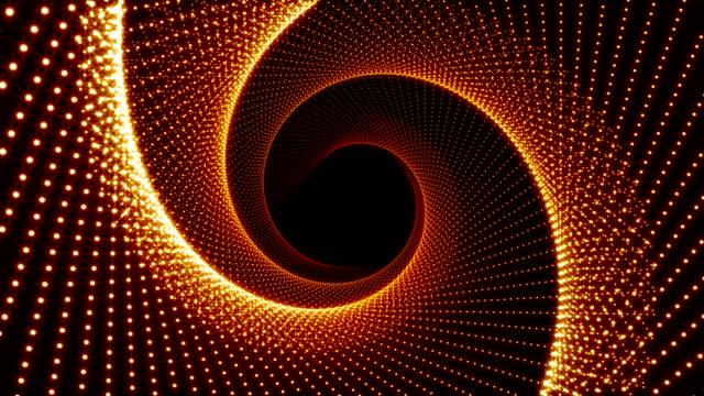 vídeos de stock e filmes b-roll de digital tunnel pattern christmas background - orange colored - circular economy