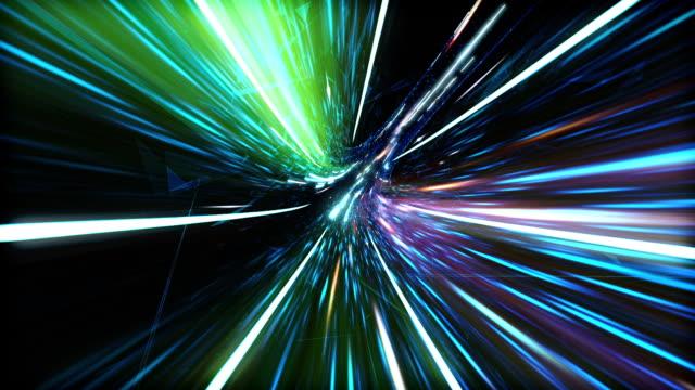 カラフルな光デジタル トンネル。 - image点の映像素材/bロール