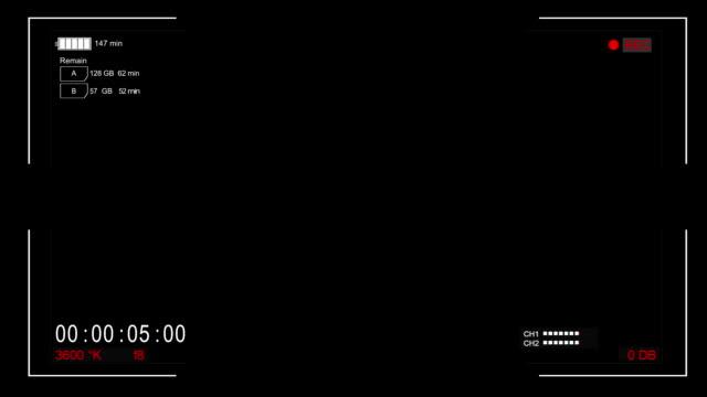 デジタルビューファインダー - フレーム点の映像素材/bロール