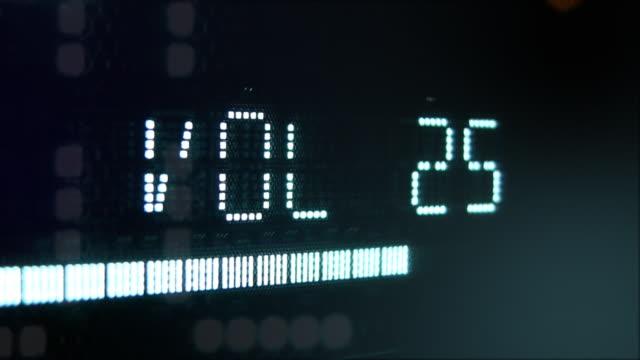 Digital Volume radio display flashing video
