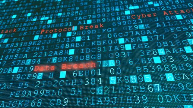 digital vägg virus dataintrång, systemfel på grund av hacker server cyber attack - hotelse bildbanksvideor och videomaterial från bakom kulisserna