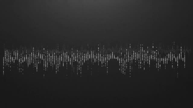 4K Digital wave equalizer HUD black background