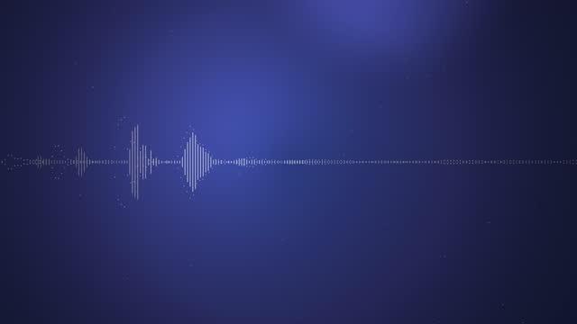 4K Digital wave equalizer HUD blue background stock video
