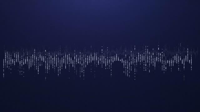 4K Digital wave equalizer HUD blue background