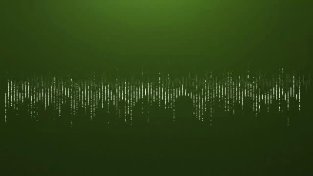 4K Digital wave equalizer HUD green background