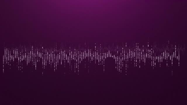 4K Digital wave equalizer HUD pink background