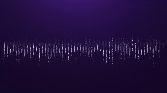4K Digital wave equalizer HUD purple background