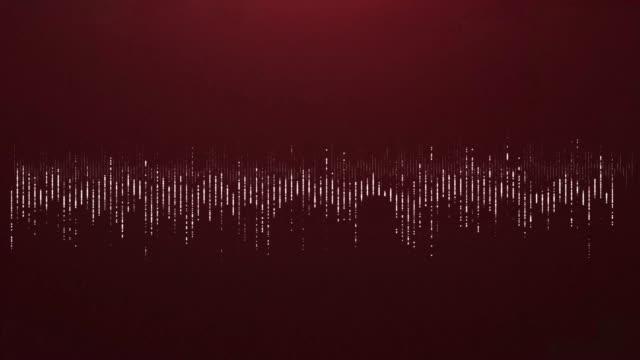 4K Digital wave equalizer HUD red background