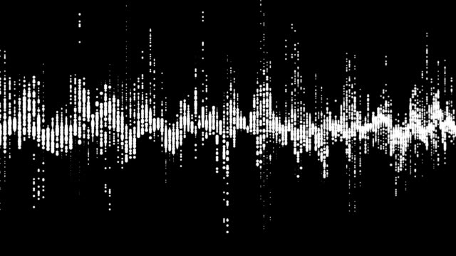 Digital waveform equalizer HUD in black background.