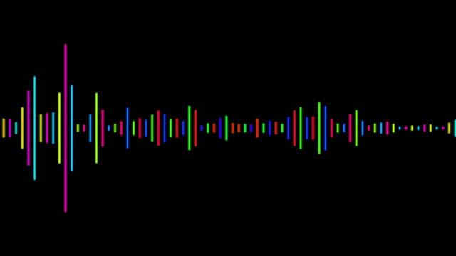 digital waveform equalizer spectrum audio background - music filmów i materiałów b-roll