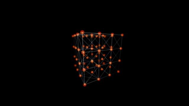 nel cubo digitale onde - composizione digitale video stock e b–roll