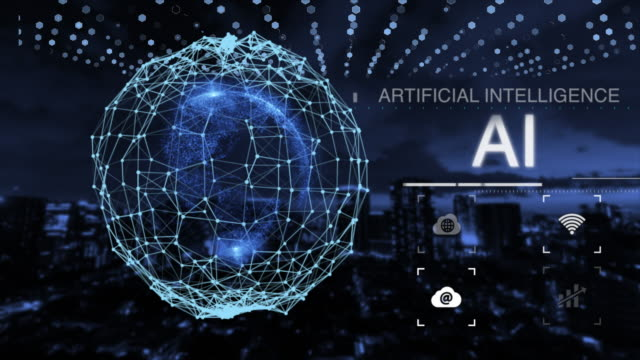 Digital world 5G AI IoT Fintech
