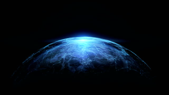 Digital World connecting. 4K abstract networking, Digital World connecting, Elements of this image furnished by NASA. earth videos stock videos & royalty-free footage