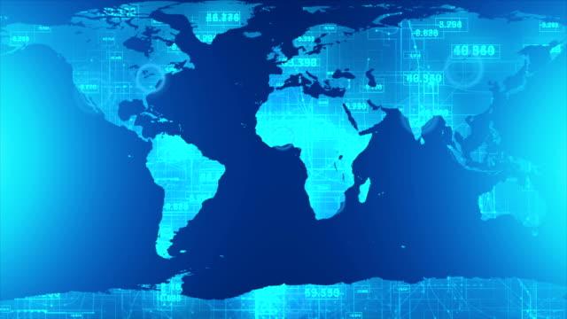 Digital World Map video