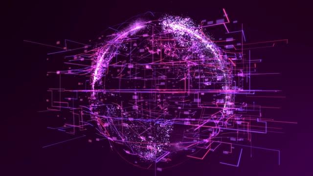 Digital world, network technology Digital world, network technology Purple purple stock videos & royalty-free footage